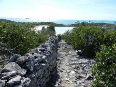 Plantation wall - Warderick Wells