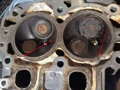 Eroded cylinder head