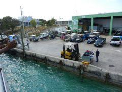 Always activity when the ferry docks!