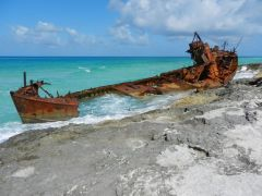 Old shipwreck on North Bimini