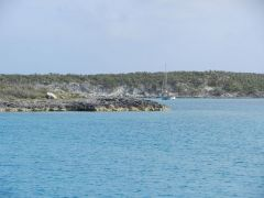 Approaching Water Cay