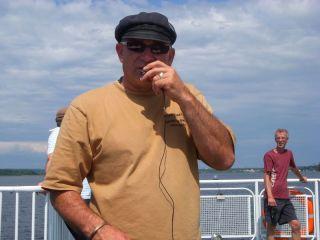 Capt. Azade Hache our Acadian tour guide