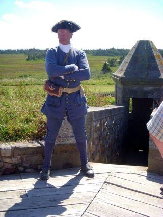 Sentry duty on wall