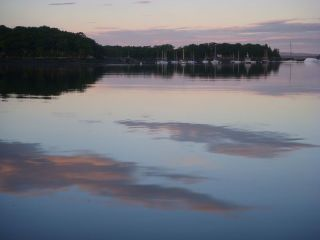 Calm at twilight-Castine