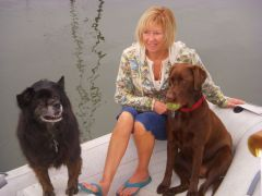 Sue with pups