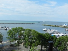 Oswego harbor entrance- Lake Ontario