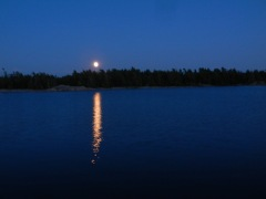 Moon over Indian Harbor