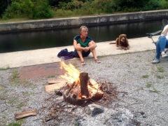 Campfire at Kirkfield Lock