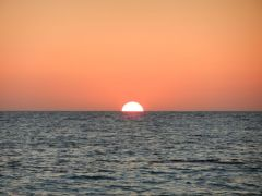 Just before the green flash