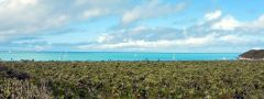 View west from Hawksbill Cay