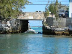 The bridge into Lake Victoria- Georgetown