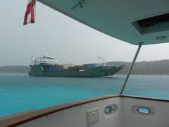 Legend II supply ship passes