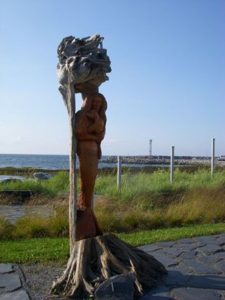 Driftwood carving Ste Anne's