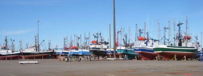 Fishing fleet boatyard