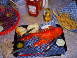 Lobster snack at Danny's