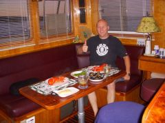 New crew 1st meal aboard!