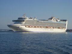 Caribbean Princess at anchor