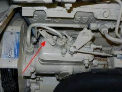 Manual fuel stop lever