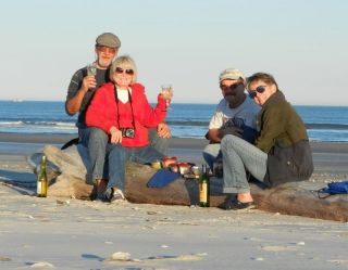 Beach wine & cheese party!