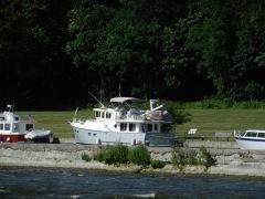 Along canal wall-Oswego