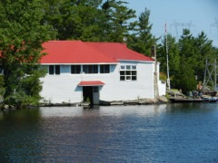 Old cottage over the water