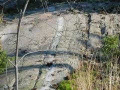Interesting vein of quartz in granite