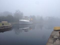 Foggy morning at Lock 7